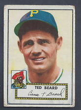 1952 Topps #150 Ted Beard Outfield Pittsburgh Pirates VG