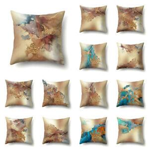 Retro Marble Texture Cushion Cover Throw Pillow Case For Sofa Car Square 45x45cm