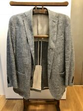 Men's Club Monaco Blue Slubby Summer Sport Coat Blazer! Size 38 Made in the USA