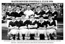 RAITH ROVERS F.C. TEAM PRINT 1956 (URQUHART / DRUMMOND / McNAUGHT)
