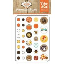 Scrapbooking Brads A PERFECT FALL Collection Echo Park Paper Co. 34 pieces New