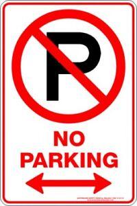 Parking Signs -  NO PARKING P SPAN ARROW