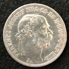 1909 HUNGARY FRANZ JOSEPH I SILVER  5 KORONA