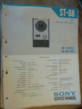 Sony ST-88 Stereo Tuner  Service Manual