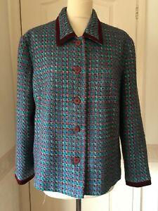 Vintage Mod jacket Wool mix L retro Revival 60s style 80s