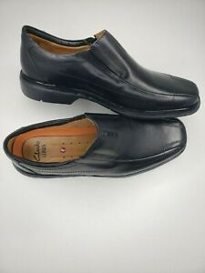 Clarks UnSheridan GO Mens Size 11 W Shoes Black Easy Slip-On Loafers