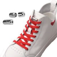 No Tie Elastic Flat Shoelaces with Silver Buckle Sneakers Sports Shoe Laces