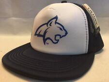 NWT OURAY Montana State Bobcats Trucker Hat Snapback Ball Cap, White & Navy