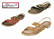 Women's No Pattern Synthetic Leather Block Sandals & Beach Shoes