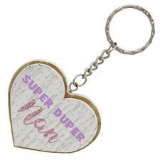 Lasting Memories 6cm 2 Layer MDF 'Heart' Key Ring - Super Duper Nan