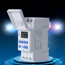 Neu Wochen Zeitschaltuhr digital für Schalttafel Einbau Hutschiene 16A / 250V AC