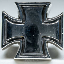 Iron Cross 925 silver Ring Maltese Schwartz Celtic Biker Gothic feeanddave