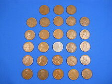 "Lincoln Wheat Cent Penny San Fran ""S"" Mint Set 1916S-1955S Collection 28 Coins"