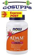 Now Foods ADAM 60 Tablets Superior Men's Multivitamin FREE EXP POST
