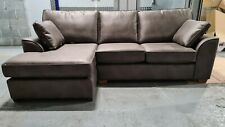 Next Stamford Corner Chaise LHF (4 seats) Monza Faux Leather Charcoal RRP £1599