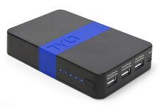 TYLT Energi 12k Battery Travel Power Bank 3 Built-in USB Ports- Blue