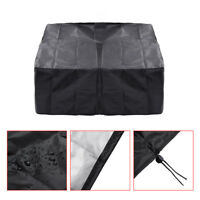 Black Waterproof Fire Pit Canvas Square BBQ Cover