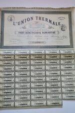 L'union thermale 1908 part bénéficiaire nominative