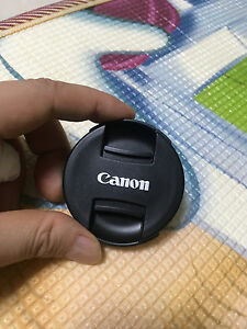 Cannon Center Pinch Snap On Front Lens Cap Cover 55mm for Canon Nikon Sony Fuji