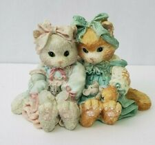 """Calico Kittens """"We're A Purr-fect Pair"""" Polly & Dolly Reg. # C14/333 Enesco 1992"""