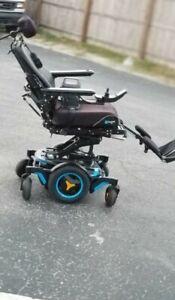 "PERMOBIL M3 WHEELCHAIR W/ 12"" SEAT LIFT, TILT, RECLINE LEGS + CHARGER"