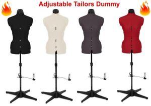 Tailors Dummy Adjustable Torso Dressmaker Female Mannequin Fashion Sizes 6 to 22