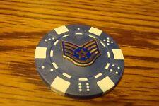 USAF Staff Sergeant E-5 Rank design Poker Chip,Golf Ball Marker,Card Guard   G