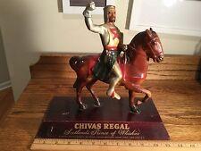Vintage RARE Chivas Regal ADVERTISING Back Bar Display Horse/rider wood Whiskey