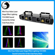 Mini 4 Laser Light Box RGBY Stage Effect Lighting 7CH DMX Control Party karaoke