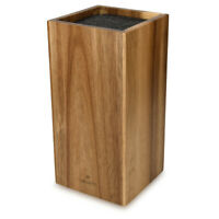 Messerblock aus Akazienholz mit Borsteneinsatz Messer Block unbestückt aus Holz