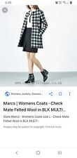 Marcs Check Mate coat Size 6