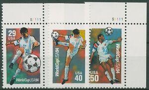USA 1994 Fußball-WM 2457/59 postfrisch, teils Ecken