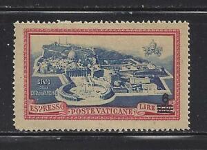 VATICAN - E7 - MH - 1945 - 6 L O/P ON 3.50 L  AERIAL VIEW OF VATICAN CITY
