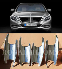 AU STOCK x4 PREMIUM CHROME Door Handle Bucket Cups for Mercedes W222 S Class AMG