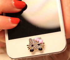 Home Button Sticker For iPhone SE 6SPlus 6S 6 6plus 5 5S 5 Pink Cat i Pad 5 4 3