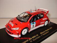 IXO RAM106 PEUGEOT 206 WRC N°1 WINNER SWEDEN 2003  au 1/43°