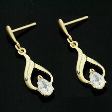9ct Gold Fancy S Cubic Zirconia Earrings