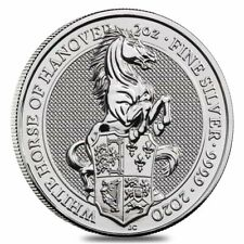 2020 Great Britain 2 oz Silver Queen's Beasts White Horse of Hanover Coin .9999