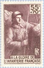 EBS France 1938 To the Glory of the French Infantry YT 386 MNH** cv $16