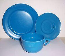 DDR Camping Kindergarten Gedeck blau Plaste ISO Press um 1970 / 80 !
