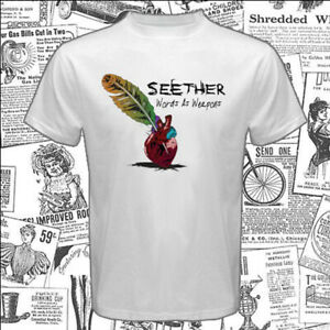 Seether Words As Weapons Men's White T-Shirt Size S-5XL