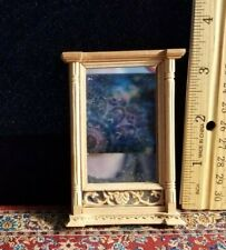 1:12 Dollhouse Miniature ~ Lovely BESPAQ framed wall Mirror ~ wood