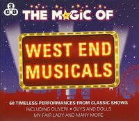 THE MAGIC OF WEST END MUSICALS - 3 CD BOX SET - OLIVER, LES MISERABLES, & MORE