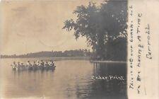 D17/ Cedar Point Amusement Park Ohio Postcard Real Photo RPPC 1906 Boating