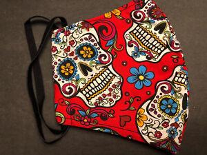 Face Mask Sugar Skull Day of the Dead Dia de Muertos