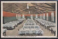 Postcard VALPARAISO Indiana/IN  University East Hall Dining Room Interior 1910's