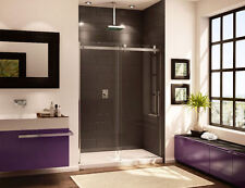 "FLEURCO 60"" X 75"" NOVARA IN LINE FRAMELESS SLIDING SHOWER DOOR"