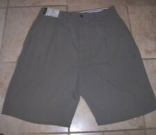 NEW Murano 100% silk shorts sz 30 pleats olive green taupe
