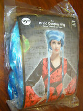 HALLOWEEN WIG Blue Braid Cosplay Adult Costume Dress Up Anime Lady Dazzling NEW!