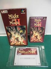 SNES -- MIGHT AND MAGIC BOOK 2 -- Box, RPG, Super famicom, Japan, work fully.